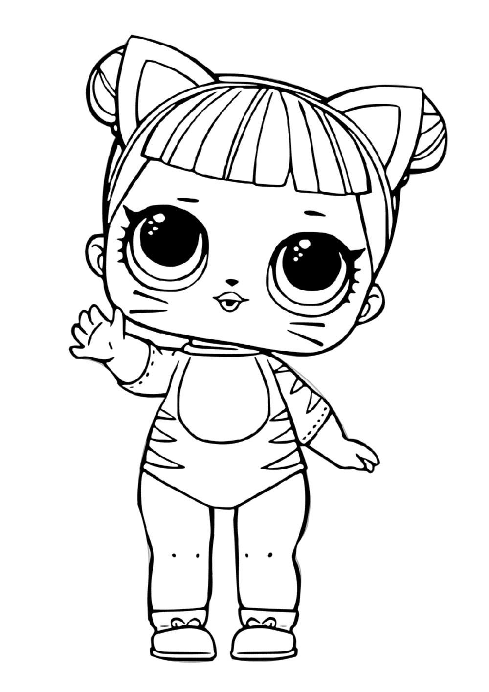 Catish Surprise LOL Doll Tiger Coloring Pages