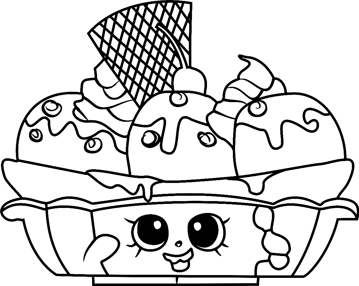 Printable Shopkins Coloring Pages: Cute Little Toys
