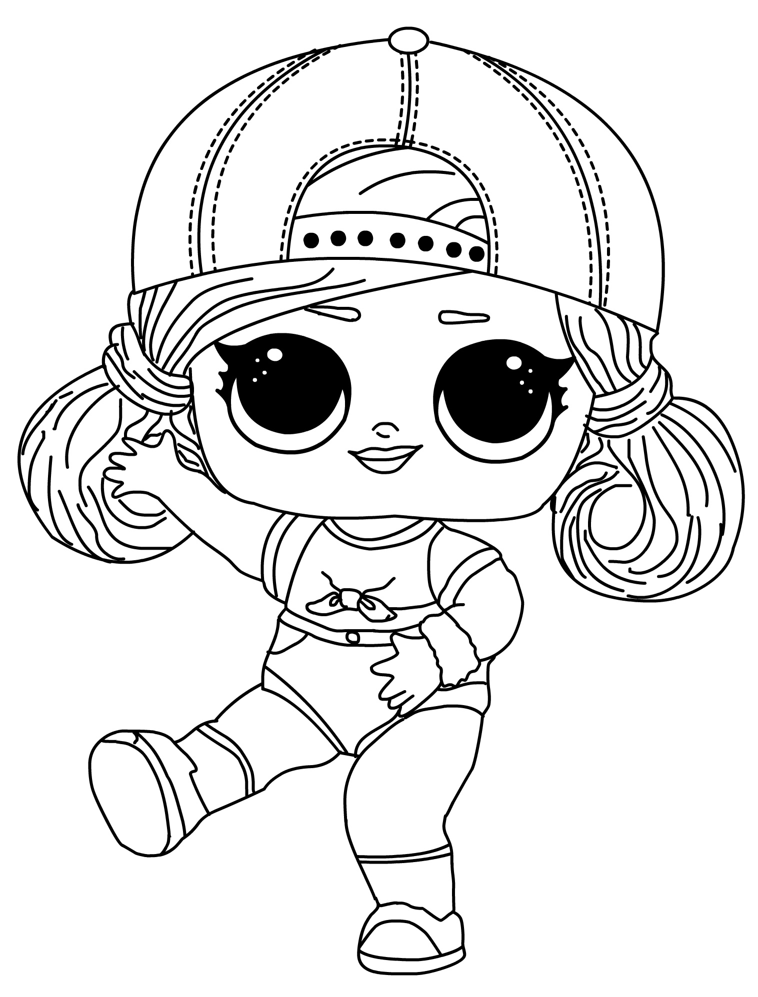 Cute Surprise LOL Doll Printable Coloring Pages
