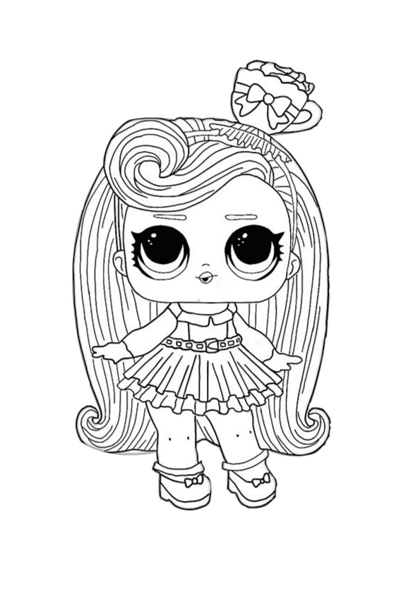 Hair vibes LOL Coloring Pages