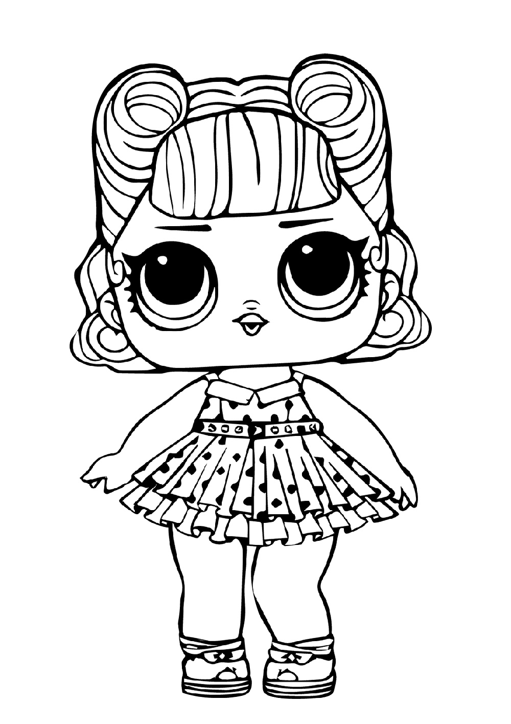 LOL Jitterbug Dancing Doll Coloring Pages