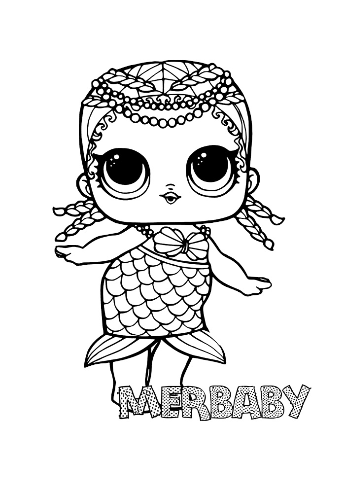 lol coloring pages: cute printable surprise dolls » print