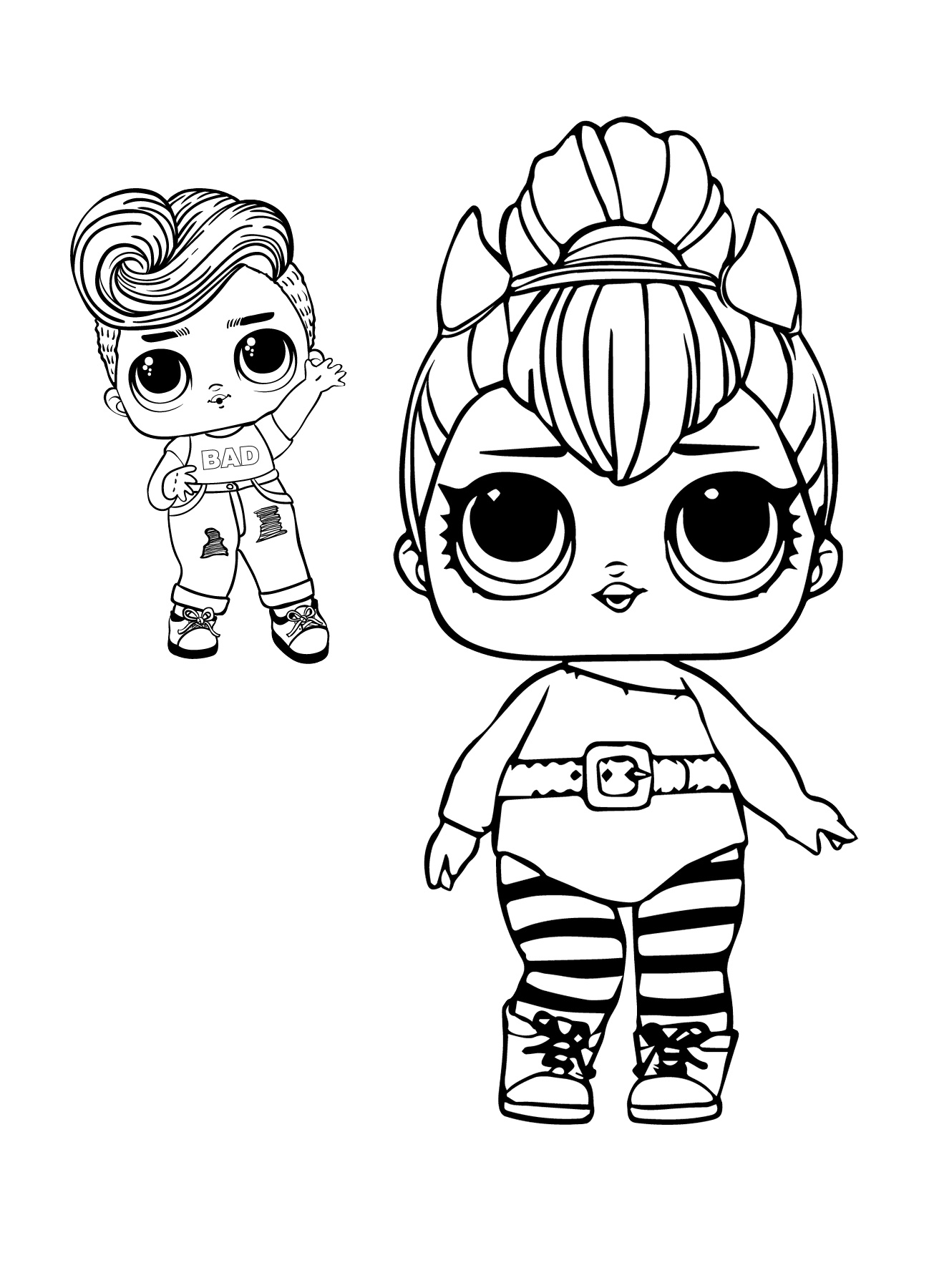 Surprise Doll Spice LOL and Friends Coloring Pages
